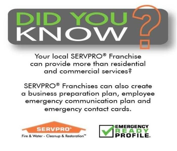 SERVPRO of Loudoun County is always ready for your Commercial Emergency