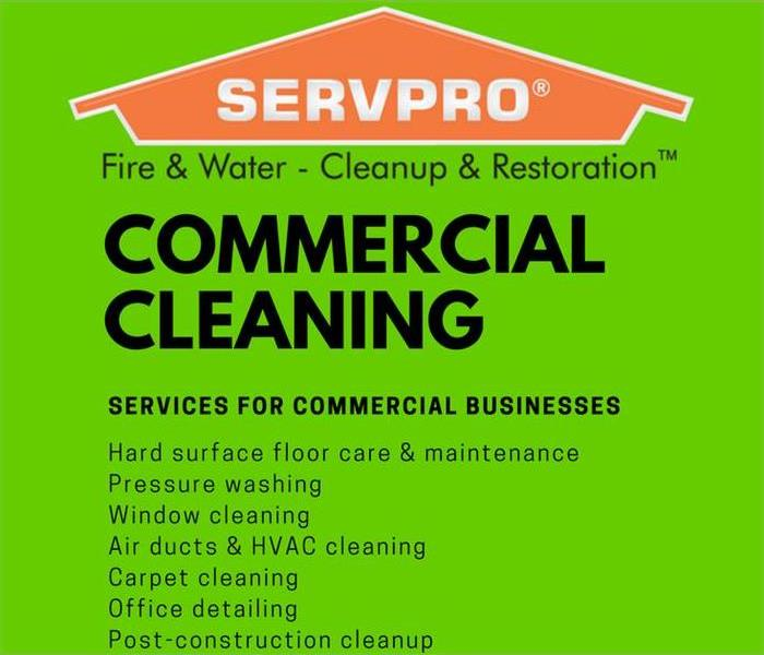 Commercial Cleaning Services by SERVPRO of Loudoun County!