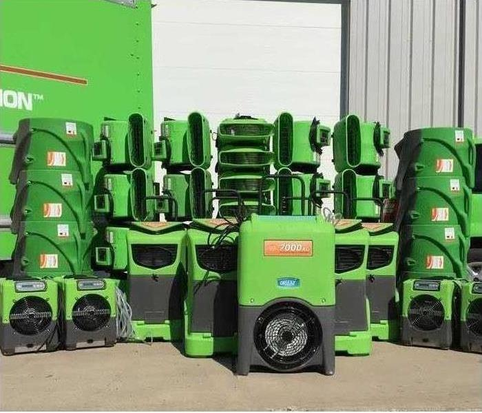 SERVPRO Water Mitigation Equipment on display